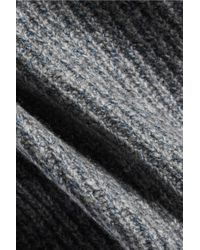 J Brand - Gray Burlington Ribbed-knit Sweater - Lyst
