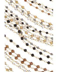 Rosantica - Metallic Giovanna Oxidized Gold-tone Beaded Body Chain - Lyst