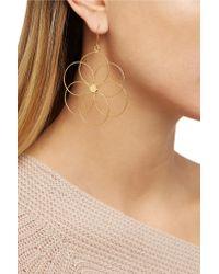 Carolina Bucci - Metallic Camelia 18-karat Gold Earrings - Lyst