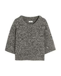 Day Birger et Mikkelsen | Gray Embellished Wool-blend Sweater | Lyst