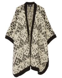 Line - Natural Claremont Merino Wool-blend Bouclé Cape - Lyst