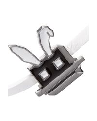 McQ Alexander McQueen - White Leather, Silver-tone And Enamel Bracelet - Lyst