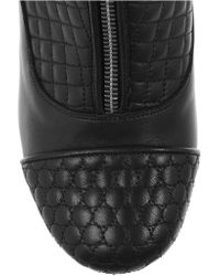 Tabitha Simmons - Black Nash Quilted Leather Ankle Boots - Lyst