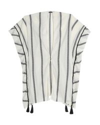 ViX - White Tasseled Striped Cotton-gauze Coverup - Lyst
