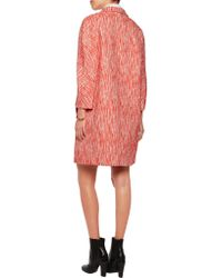 Carven - Red Cotton-blend Bouclé Coat - Lyst