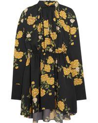 Magda Butrym | Black Lugo Floral-print Silk Mini Dress | Lyst