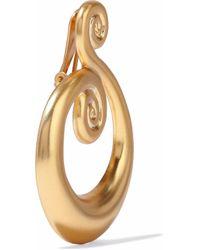 Kenneth Jay Lane - Metallic Gold-tone Clip Earrings - Lyst