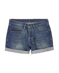 Ksubi | Blue Mid-rise Denim Shorts | Lyst