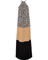 Michael Kors - Multicolor Color-block Crepe Gown - Lyst
