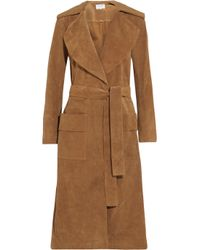 FRAME - Brown Le Duster Suede Coat - Lyst