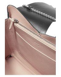 Jil Sander | Black Medium Cutout Leather Shoulder Bag | Lyst