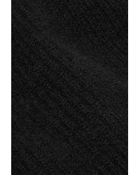 Madeleine Thompson - Black Fiona Ribbed-knit Cashmere Beanie - Lyst