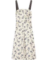 Tory Burch | Multicolor A-line Linen-blend Jacquard Dress | Lyst