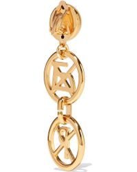 Moschino - Metallic Gold-tone Earrings - Lyst