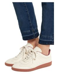Isabel Marant - White Étoile Bryce Perforated Leather Low-Top Sneakers - Lyst
