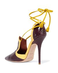 Malone Souliers | Multicolor Haji Two-tone Waternsnake Pumps | Lyst