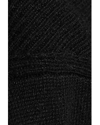 Alexander Wang - Black Silk And Cashmere-blend Sweater Dress - Lyst