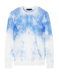 Alexander Wang - Blue Printed Knitted Top - Lyst