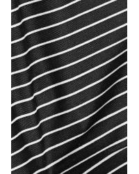 The Upside - Black Lauren Striped Stretch-jersey Sports Bra - Lyst