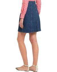 J.Crew - Blue Stretch-denim Mini Skirt - Lyst