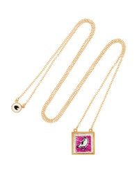 Marc By Marc Jacobs - Metallic - Crow Gold-tone Embroidered Necklace - Lyst