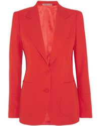 Bottega Veneta - Red Wool-gabardine Blazer - Lyst