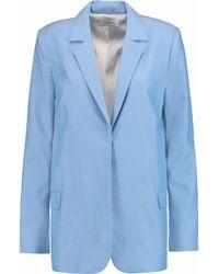 Equipment | Blue Mitchell Woven Silk Blazer | Lyst