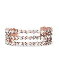 Erickson Beamon | Multicolor War Of Roses Rose Gold-plated Swarovski Crystal Cuff | Lyst