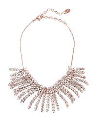 Erickson Beamon | Metallic War Of Roses Rose Gold-plated Swarovski Crystal Necklace | Lyst