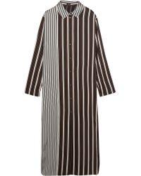 JOSEPH   Black Hetty Striped Satin Shirt Dress   Lyst