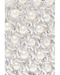 Kenneth Jay Lane - Metallic Silver-tone And Faux Pearl Bracelet - Lyst