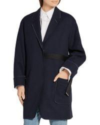 Acne Studios - Blue Bariah Panama Woven Coat - Lyst