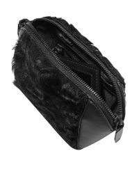 Alexander Wang | Black Goat Hair-paneled Leather Cosmetics Case | Lyst