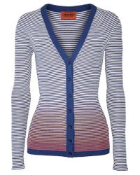 Missoni - Blue Jacquard-knit Cotton-blend Cardigan - Lyst