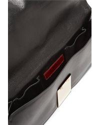 Valentino Black Rockstud Studded Fold-over Leather Clutch