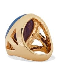 Kenneth Jay Lane - Metallic Gold-plated Opal Ring - Lyst
