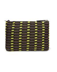 M Missoni | Purple Metallic Crochet-knit Clutch | Lyst