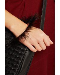 Isabel Marant - Black Silver-tone Feather Cuff - Lyst
