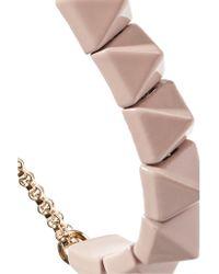 Valentino - Metallic Rockstud Enameled Gold-tone Bracelet - Lyst