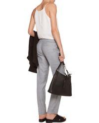 MICHAEL Michael Kors - Gray Miranda Frayed Knitted Straight-leg Pants - Lyst