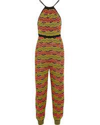 M Missoni - Yellow - Crochet-knit Jumpsuit - Chartreuse - Lyst