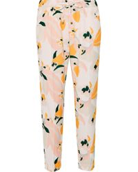 Heidi Klein - Yellow Honolulu Printed Crepe Tapered Pants - Lyst