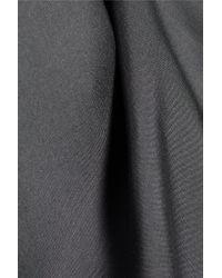 Marni - Gray Draped Silk-voile Dress - Lyst