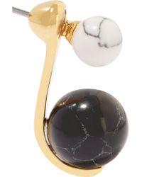 Noir Jewelry - Metallic Gold-tone And Resin Earrings - Lyst