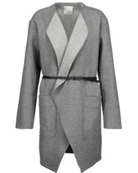 Joie Gray Calia Belted Wool-blend Coat