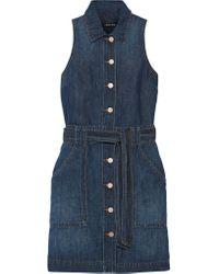 J Brand - Blue Caressa Denim Mini Dress - Lyst
