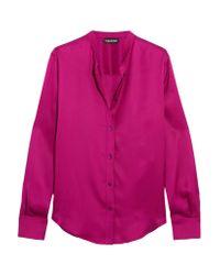 Tom Ford - Pink Silk-satin Blouse - Lyst