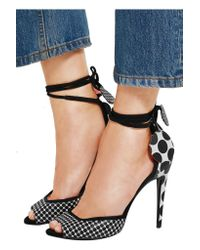 Pierre Hardy Black Lola Polka-dot Leather Sandals