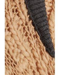 Sea - Natural Merino Wool-blend Cardigan - Lyst