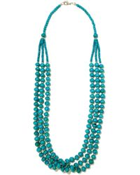 Kenneth Jay Lane | Blue Bead And Silver-tone Necklace | Lyst